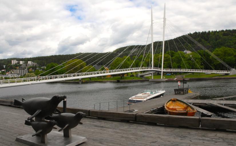 Drammenselva fra Bybrua til Landfalløybrua