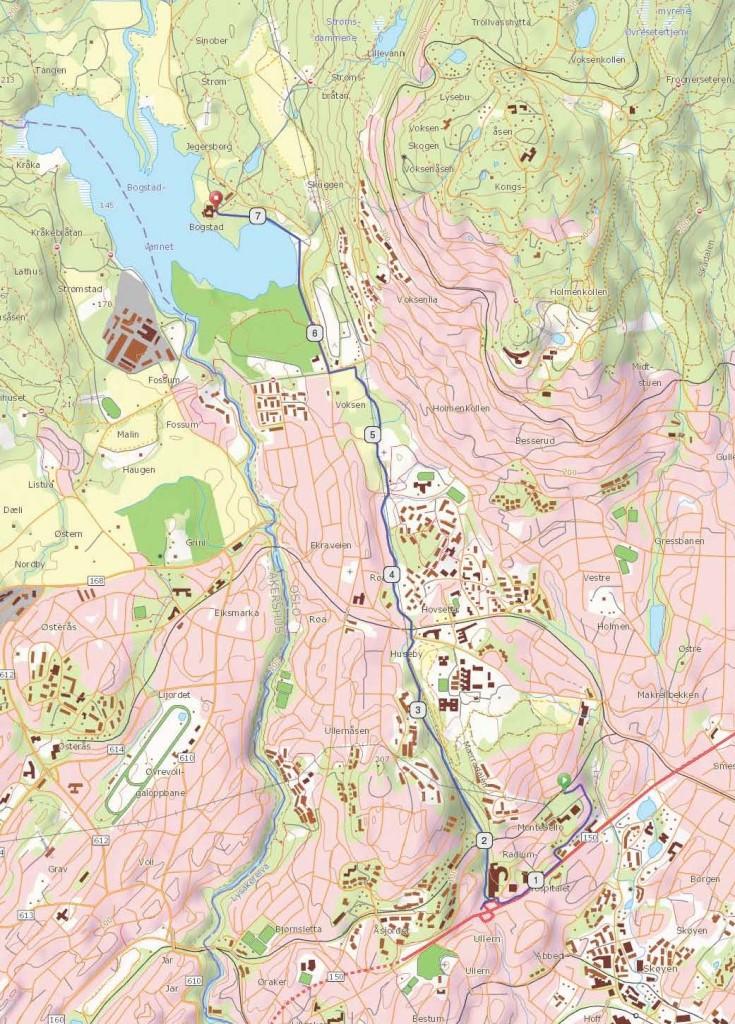 mærradalen kart Jungeltur på vestkanten; Mærradalen   Bynære sykkelturer mærradalen kart
