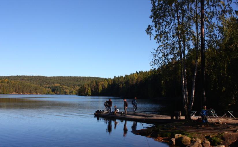 Bademuligheter i Østmarka; rundt Nøklevann og Ulsrudvann