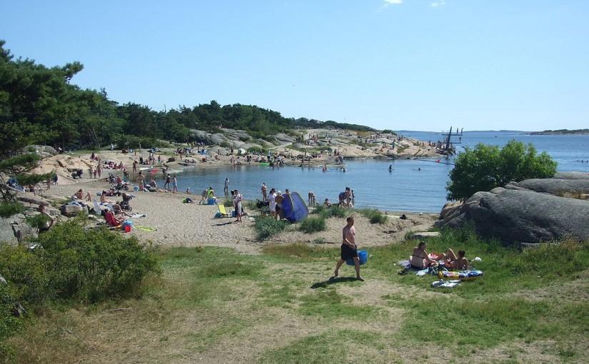 Badeplasser langs Onsøykysten